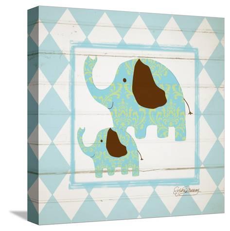 Elephants-Sylvia Murray-Stretched Canvas Print