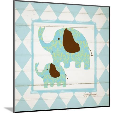 Elephants-Sylvia Murray-Mounted Art Print