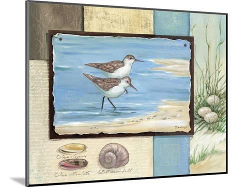 Sandpiper Collage I-Paul Brent-Mounted Art Print