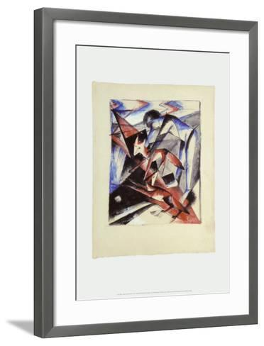 Noah and the Foxes, c.1913-Franz Marc-Framed Art Print