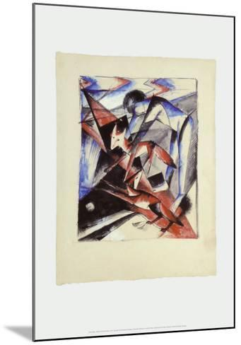 Noah and the Foxes, c.1913-Franz Marc-Mounted Art Print