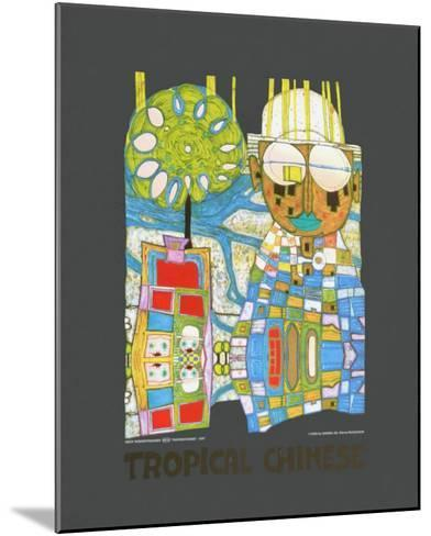 Tropical Chinese-Friedensreich Hundertwasser-Mounted Art Print