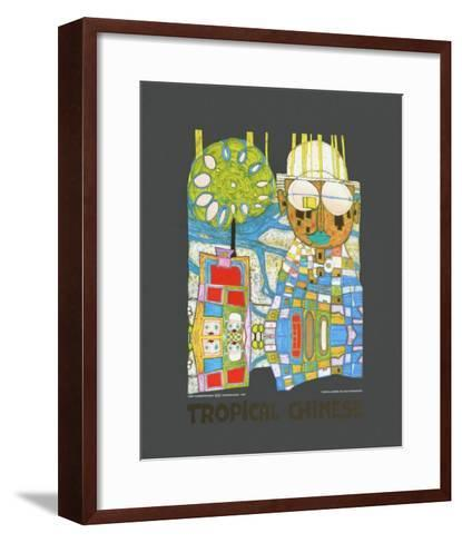 Tropical Chinese-Friedensreich Hundertwasser-Framed Art Print