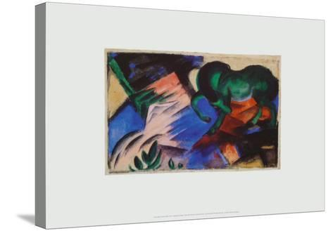 The Green Horse, c.1912-Franz Marc-Stretched Canvas Print