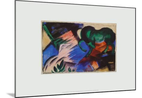 The Green Horse, c.1912-Franz Marc-Mounted Art Print