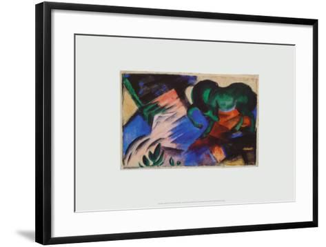 The Green Horse, c.1912-Franz Marc-Framed Art Print