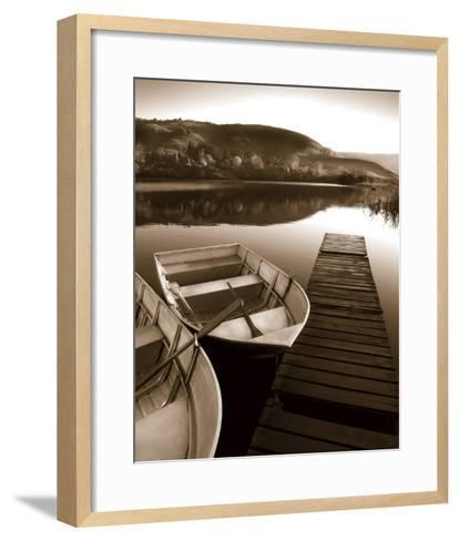 Row Boat Awaits-Danita Delimont-Framed Art Print