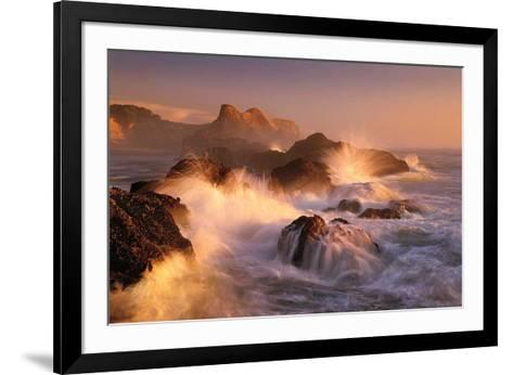 Ocean's Fury-Marc Adamus-Framed Art Print