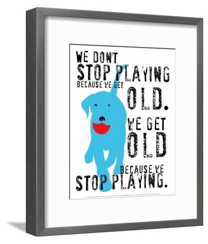 Don't Stop Playing-Ginger Oliphant-Framed Art Print