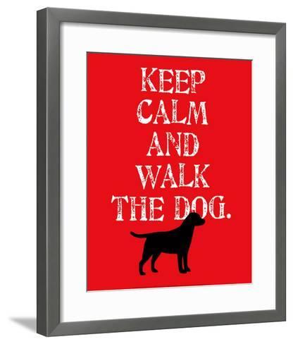 Keep Calm (Labrador)-Ginger Oliphant-Framed Art Print