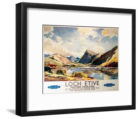 Loch Etive, Western Highlands, BR(ScR), c.1948-1965--Framed Art Print