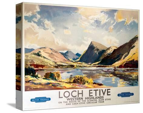 Loch Etive, Western Highlands, BR(ScR), c.1948-1965--Stretched Canvas Print