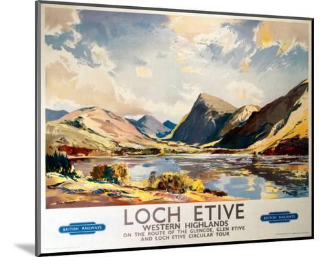 Loch Etive, Western Highlands, BR(ScR), c.1948-1965--Mounted Art Print