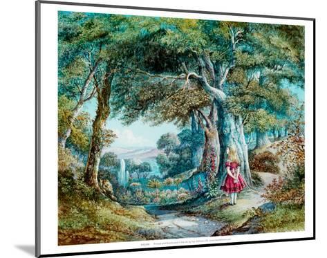 Alice in Wonderland--Mounted Art Print