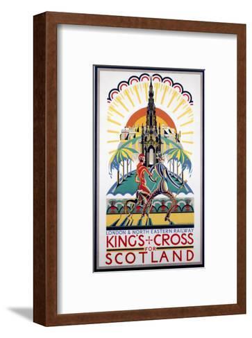 King's Cross for Scotland, LNER, c.1923-1947--Framed Art Print