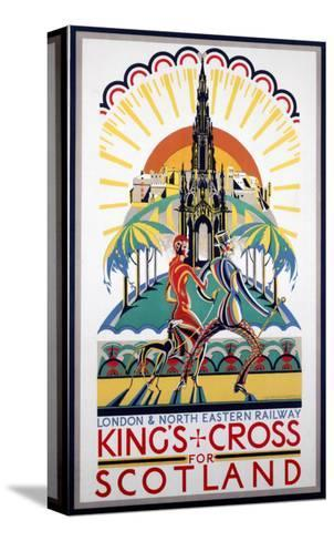 King's Cross for Scotland, LNER, c.1923-1947--Stretched Canvas Print