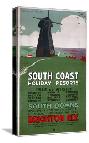 South Coast Holiday Resorts, LBSCR, c.1915--Stretched Canvas Print