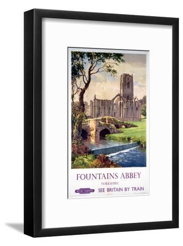 Fountains Abbey, Yorkshire, BR (NER), c.1956--Framed Art Print