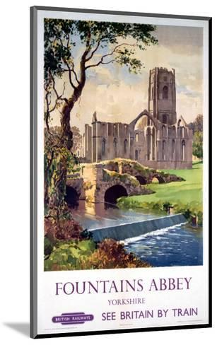 Fountains Abbey, Yorkshire, BR (NER), c.1956--Mounted Art Print