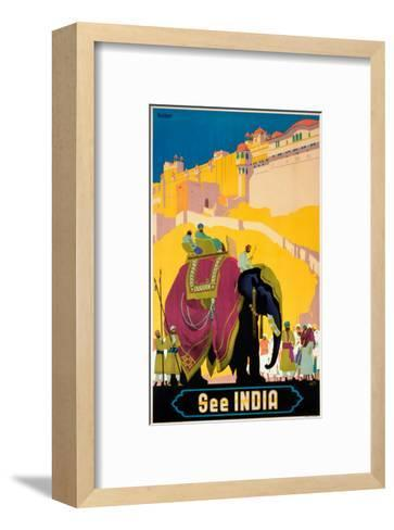 Indian State Railways: See India--Framed Art Print