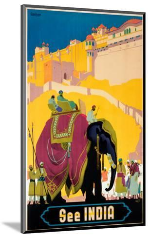 Indian State Railways: See India--Mounted Art Print