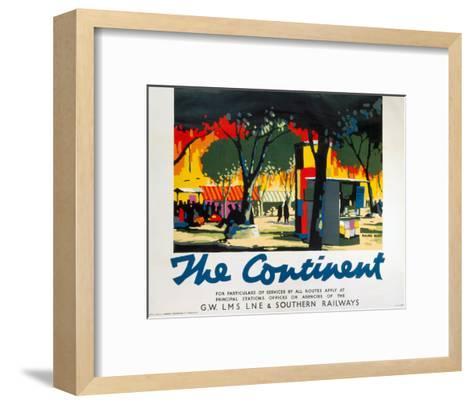 The Continent, GWR/LMS/LNER/SR, c.1923-1947--Framed Art Print