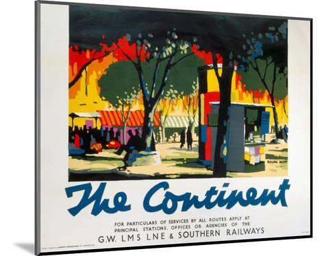 The Continent, GWR/LMS/LNER/SR, c.1923-1947--Mounted Art Print