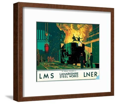 Lanarkshire Steel Works, LMS/LNER, c.1935--Framed Art Print