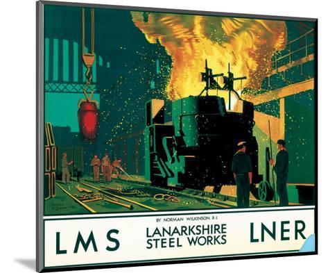 Lanarkshire Steel Works, LMS/LNER, c.1935--Mounted Art Print