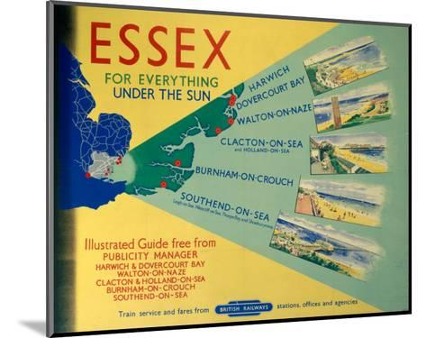 Essex: For Everything Under the Sun, BR, c.1948-1965--Mounted Art Print