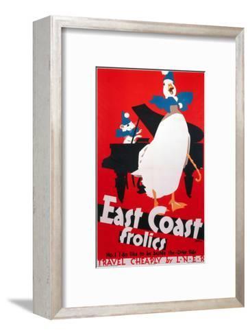 East Coast Frolics, LNER, c.1933-Frank Newbould-Framed Art Print