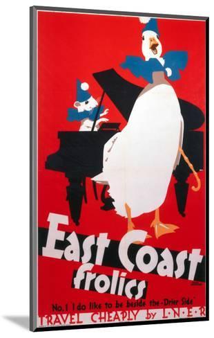East Coast Frolics, LNER, c.1933-Frank Newbould-Mounted Art Print