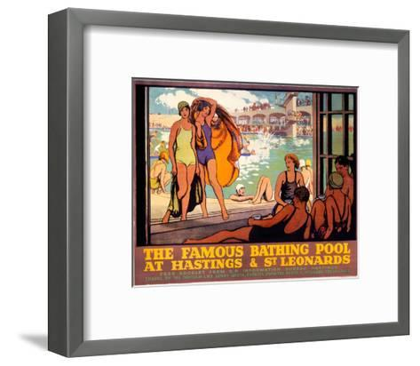 The Famous Bathing Pool at Hastings and St Leonards, LMS, c.1920s--Framed Art Print