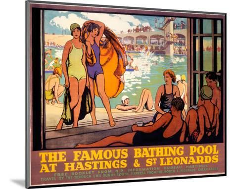 The Famous Bathing Pool at Hastings and St Leonards, LMS, c.1920s--Mounted Art Print