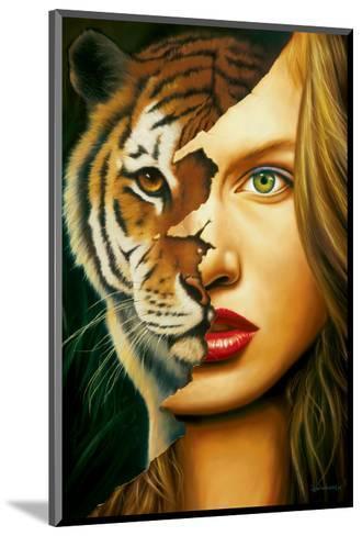 Tiger Within-Jim Warren-Mounted Premium Giclee Print