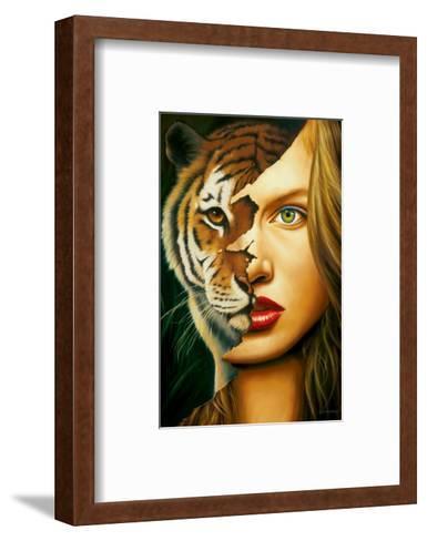 Tiger Within-Jim Warren-Framed Art Print