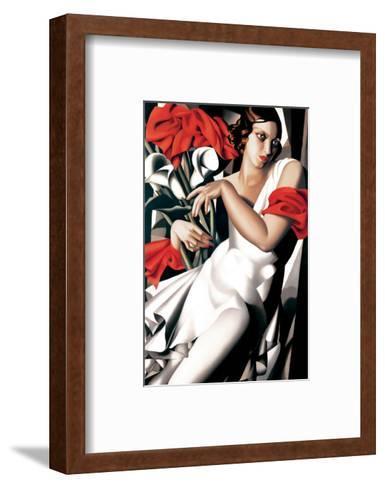 Portrait of Ira-Tamara de Lempicka-Framed Art Print