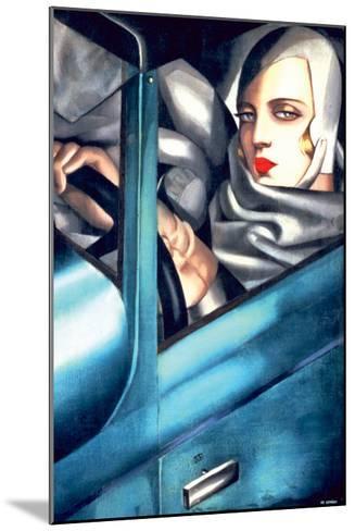 Autoportrait-Tamara de Lempicka-Mounted Premium Giclee Print