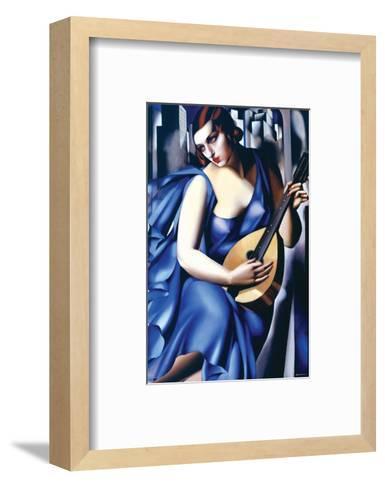 Femme en Bleu Avec Guitare-Tamara de Lempicka-Framed Art Print
