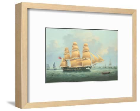 British Merchantman Ship-Samuel Walters-Framed Art Print