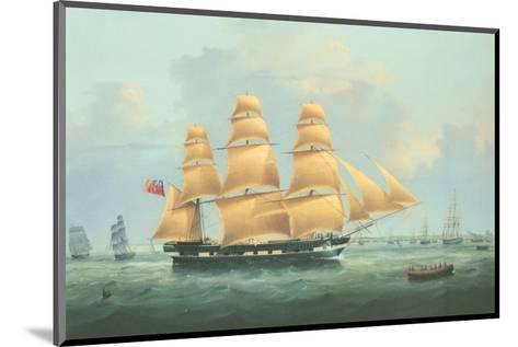 British Merchantman Ship-Samuel Walters-Mounted Premium Giclee Print