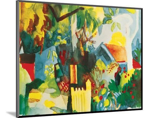 Landscape-Auguste Macke-Mounted Premium Giclee Print