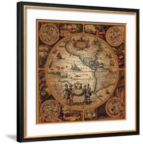 Cartographica II--Framed Art Print