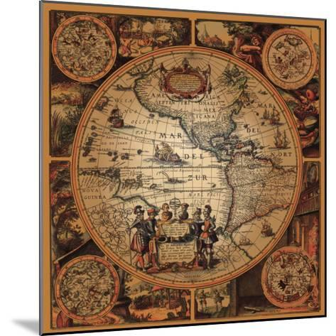 Cartographica II--Mounted Premium Giclee Print