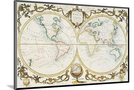 Map of the World, c.1770--Mounted Premium Giclee Print