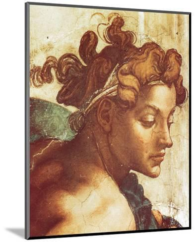 Chapel Sistine, The Drunkenness of Noah (detail)-Michelangelo Buonarroti-Mounted Premium Giclee Print
