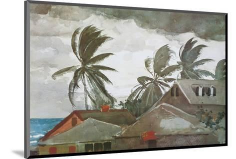 Hurricane, Bahamas, c.1898-Winslow Homer-Mounted Premium Giclee Print