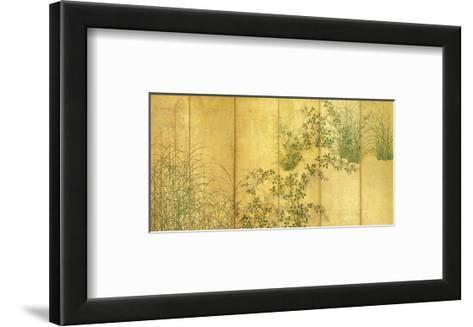 Japanese Autumn Grasses, Six-Fold Screen, Early Edo Period--Framed Art Print