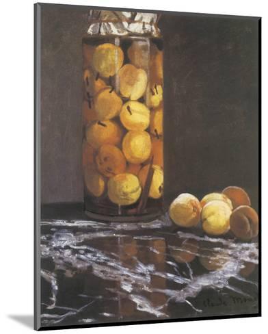 Jar of Peaches-Claude Monet-Mounted Premium Giclee Print
