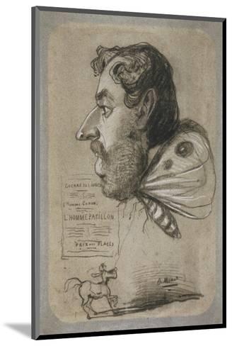 Caricature of Jules Didier-Claude Monet-Mounted Premium Giclee Print